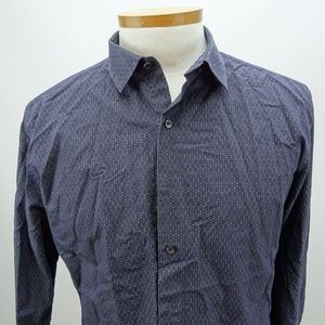 Alfani Fitted Mens Quilted Long Sleeve Size L NWOT